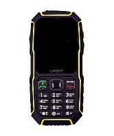 Кнопочный защищенный телефон с большим экраном и кнопкой SOS Sigma X-treme ST68 черно-желтый
