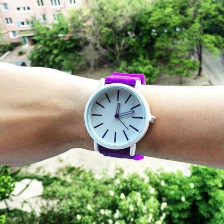 Спортивные женские часы фиолетовые, фото 2