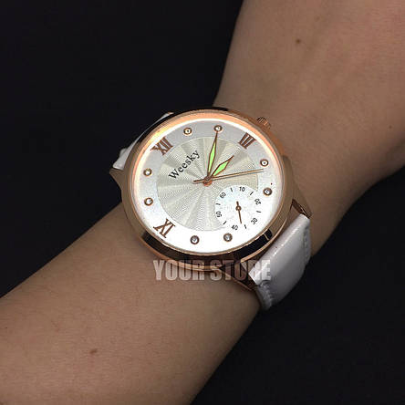 Женские часы Weesky белые, фото 2