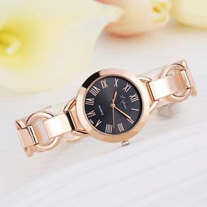 Стильные женские часы на руку золотые, фото 2