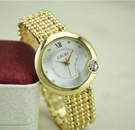 Золотые часы бпаслет женские Caldi