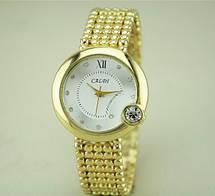 Золотые часы бпаслет женские Caldi, фото 3