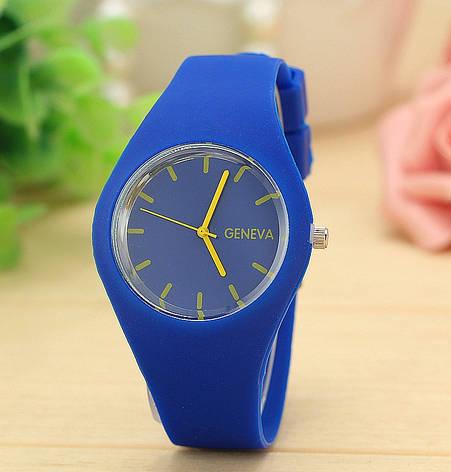 Женские наручные спортивные часы Geneva синие, фото 2