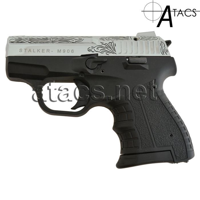 Пистолет стартовый Stalker M 906 Chrome с гравировкой