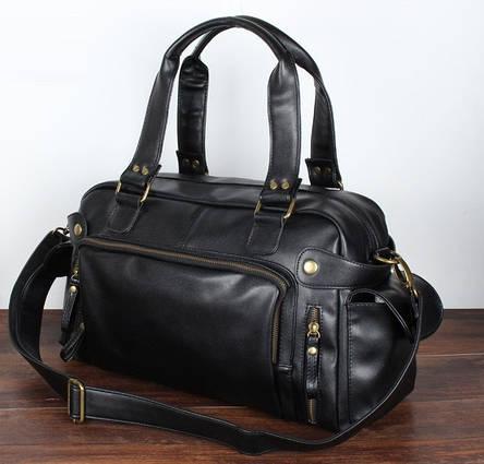 Шкіряна чоловіча сумка (ПУ шкіра), фото 2