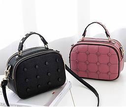 Жіноча сумочка з гудзиками сумка на блискавці