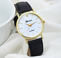 Черные женские часы на руку Geneva