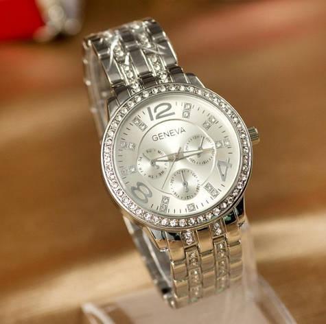 Женские наручные часы Geneva серебро, фото 2