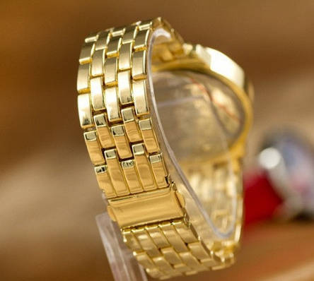 Женские золотые часы Geneva, фото 2
