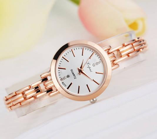 Женские наручные часы браслет золото, фото 2