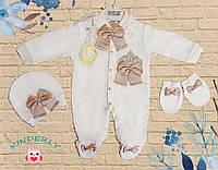 Праздничный комплект для малышей 0-1/3-4/6-7 мес.  Waffle Турция