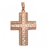 Подвеска Крест 3,1 см (Медицинское золото)
