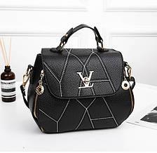 Чорна жіноча сумка сумочка в стилі Louis Vuitton Луї Вітон