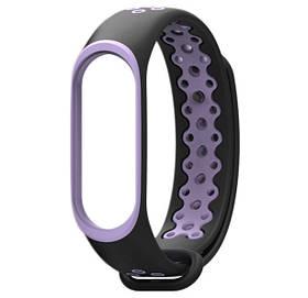 Силіконовий ремінець Primo Perfor Sport для фітнес-браслета Xiaomi Mi Band 4 - Black&Purple