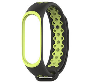Силіконовий ремінець Primo Perfor Sport для фітнес-браслета Xiaomi Mi Band 4 - Black&Green