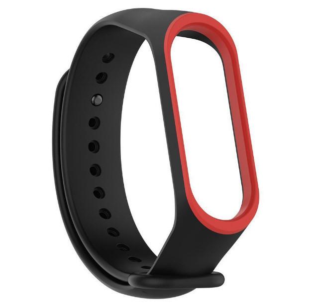 Силиконовый ремешок для фитнес-браслета Xiaomi Mi Band 4 - Black&Red