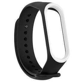 Силіконовий ремінець для фітнес-браслета Xiaomi Mi Band 4 - Black&White