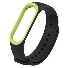 Силіконовий ремінець для фітнес-браслета Xiaomi Mi Band 4 - Black&Green