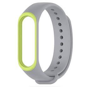 Силіконовий ремінець для фітнес-браслета Xiaomi Mi Band 4 - Grey&Green