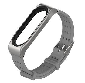 Силіконовий ремінець з перфорацією Primo Mijobs Classic для фітнес браслета Xiaomi Mi Band 4 - Grey