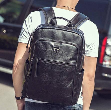 Большой мужской рюкзак эко кожа, фото 2
