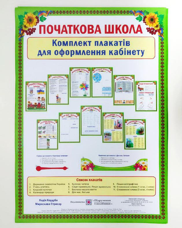 Комплект плакатов для начальной школы