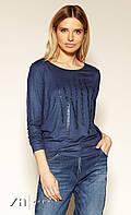 Блуза Laverne Zaps темно-синего цвета. Коллекция осень-зима 2019-2020