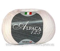 Пряжа Сеам  Альпака 125 Белый