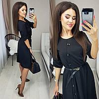 Платье модное черное 3 расцветки