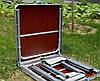 Стол для пикника раскладной со стульями Folding Table 120х60х55/60/70 см (3 режима высоты) Коричневый, фото 6