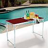 Стол для пикника раскладной со стульями Folding Table 120х60х55/60/70 см (3 режима высоты) Коричневый, фото 8