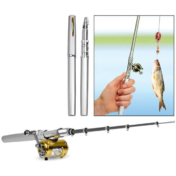 Складная походная мини-удочка Fishing Rod In Pen Case
