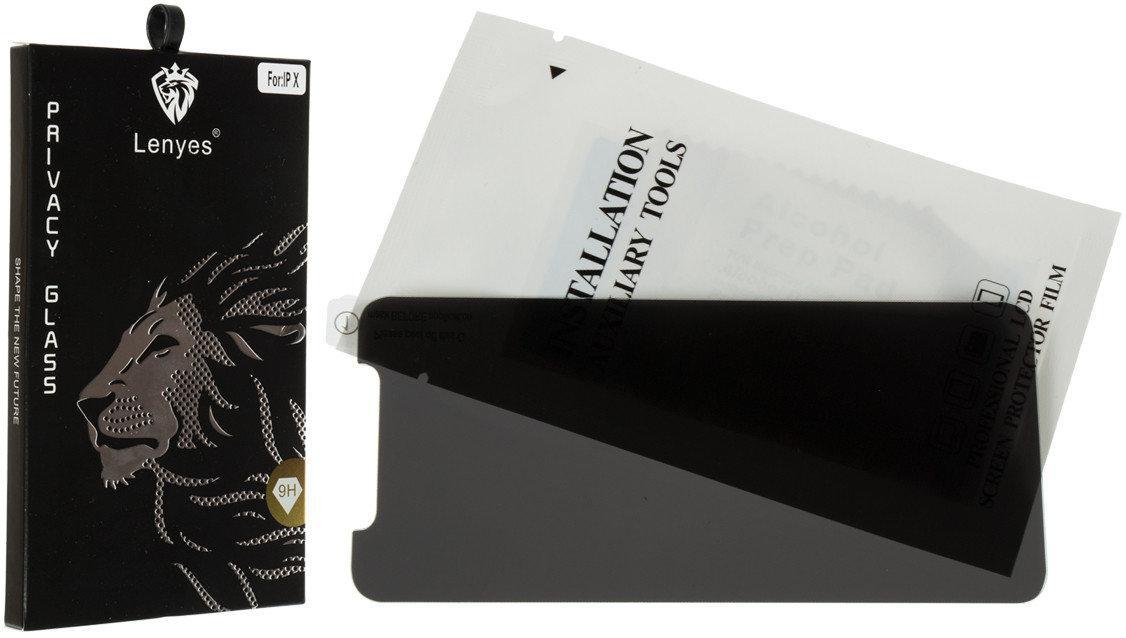 Защитное стекло Lenyes Privacy iPhone 8 plus (чёрный)