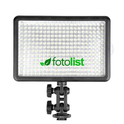 Накамерный видеосвет Lishuai LED-308C (5600К-3200К с диммером)