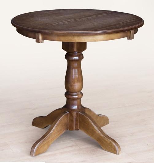 """Стол обеденный круглый """"Чумак"""" (дерево бук) , цвет орех темный, слоновая кость или белый."""
