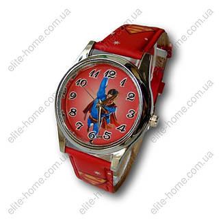 """Дитячі наручні годинники """"Супермен (Superman)"""" в подарунковій упаковці (червоний ремінець), фото 2"""