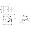 Гранитная мойка для кухни AquaSanita Tesa SQT151W-110, фото 2