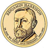 США 1 доллар 2012, 23-й президент США Бенджамин Гаррисон