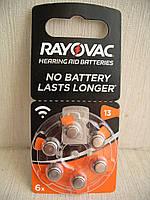 Батарейка Rayovac ACOUSTIC SPECIAL A13 (ZA13, PR48)