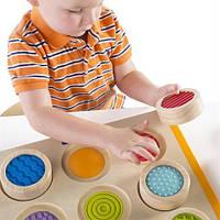 Развивающий набор для детей от 2 лет Тактильное лото - увлекательная тактильная игра на сенсорную память