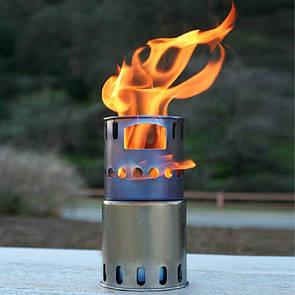 Туристическая титановая щепочница TOAKS STV-11 Титанова щепочниця Titanium. Титановая печь.