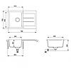 Кухонная мойка AquaSanita Tesa SQT101W-111, фото 2