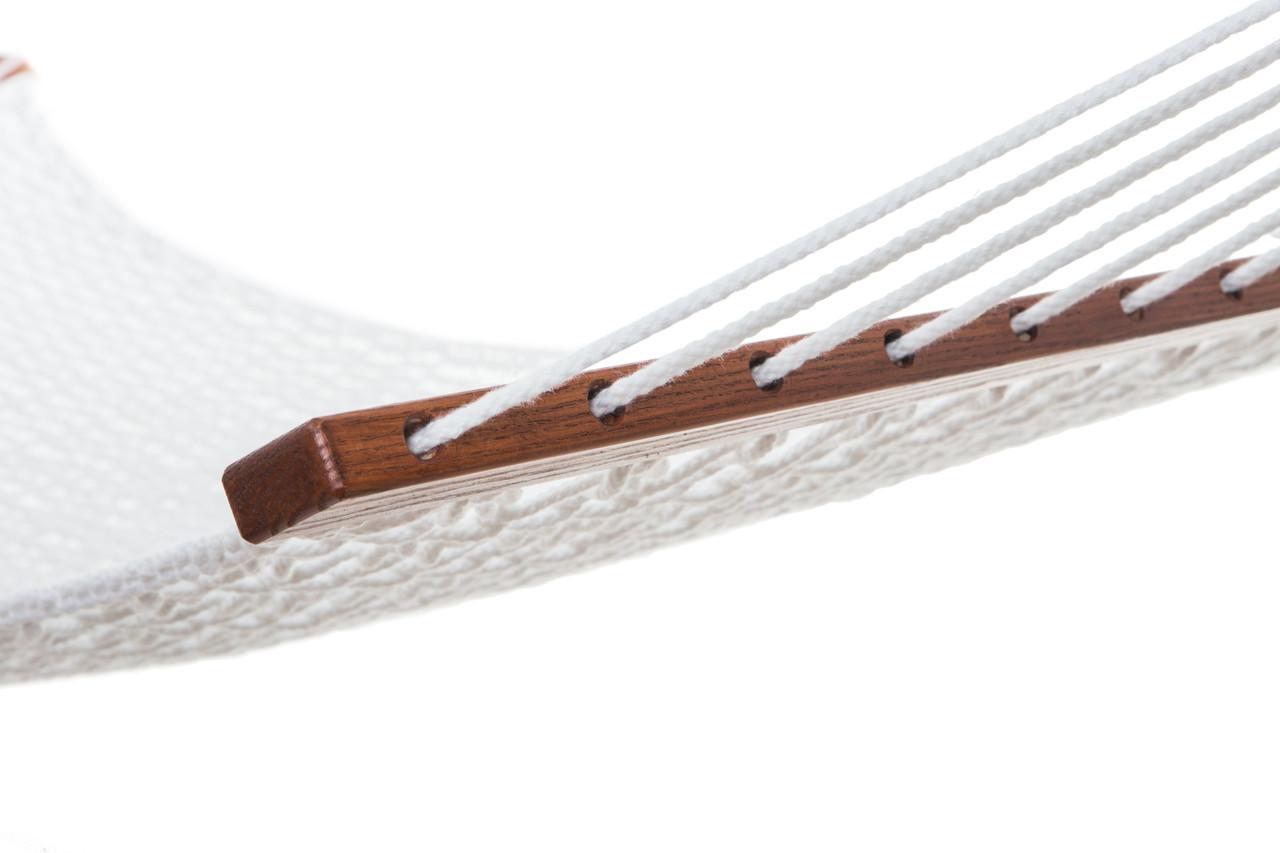 Гамак плетеный белого цвета Arlio Classic. Двухместный с планкой 3.2м х 1.2м
