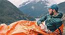 Сверхлегкий спальный мешок для экстренной помощи (выживания) Спасательное одеяло. Бивачный мешок., фото 6