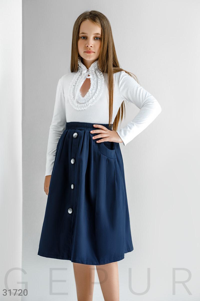 Школьная  Расклешенная юбка-миди на девочку