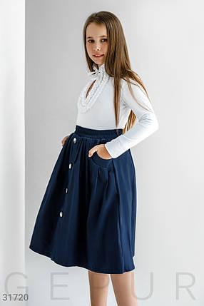 Школьная  Расклешенная юбка-миди на девочку, фото 2