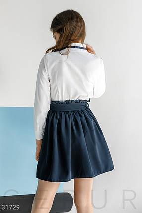 Объемная школьная юбка в легкую складку  на девочку, фото 2