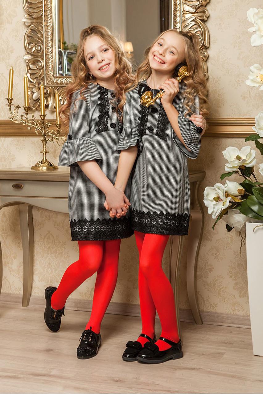 Элегантное школьное платье для девочки KR-8