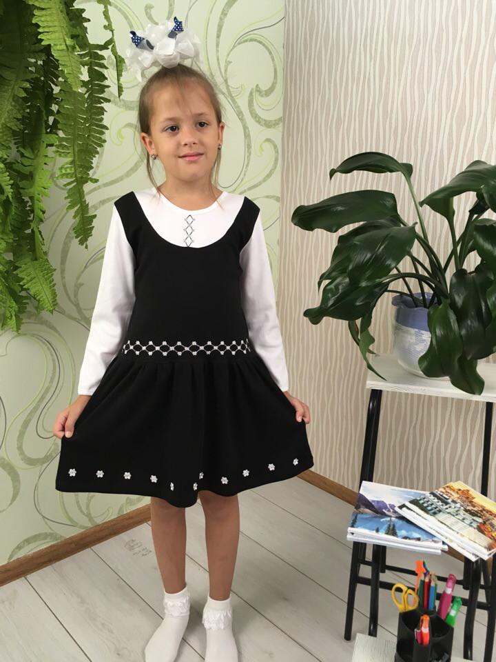 Школьное платье- сарафан для девочки Лилу 001-995