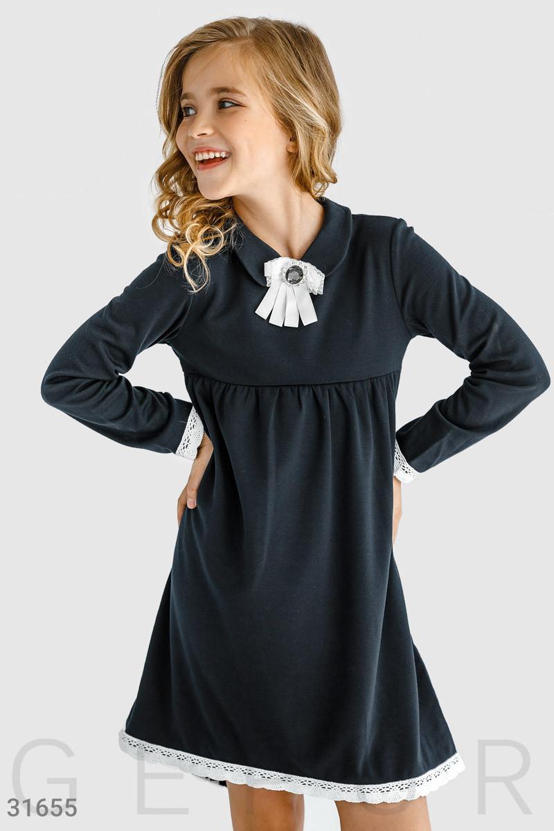 Комфортное школьное  платье  на девочку